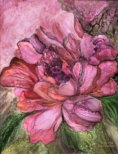 Peony Pink - Organica Print by Carol Cavalaris