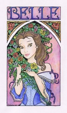 Belle, one of my favorite Disney princesses