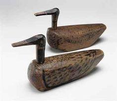 A Pair of Painted-Wood Wedding Ducks (Kirogi)