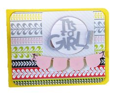 Its a Girl papers, Tiny Treasures Cricuit Cartiridge - Scrapbook Card Idea from Creative Memories, Detailed Instructions: http://projectcenter.creativememories.com/photos/our_newest_project_ideas/its-a-girl-tiny-treasures-scrapbook-card-idea.html