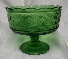 Vintage Indiana Green Depression Glass Candy by TeddysVintageShop, $7.50