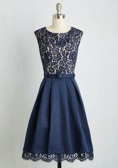 Love the lace details and simplicity of this dress. The blue too!