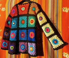 Granny Square Sweater - The Ultimate Circles To Squares Design In 32 Colors Of The Rainbow   Flickr - Photo Sharing!