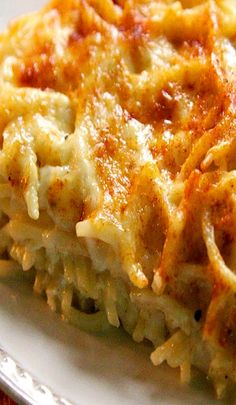 Baked Spaghetti & Cheese