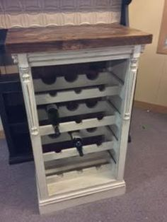 Re-built wine rack, Original floorboards from the deep south were used in the rebuild.