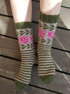 Ruusu-sukat Malli, Knitting Yarn, Fiber Art, Crochet, Textiles, Socks, Fashion, Tights, Tricot