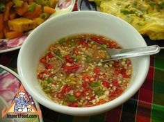 Thai recipe for Assorted Thai Table Condiments from .Authentic Thai recipe for Assorted Thai Table Condiments from . Thai Dipping Sauce, Thai Sauce, Thai Chili Fish Sauce Recipe, Thai Cooking, Asian Cooking, Cooking Recipes, Kitchen Recipes, Cambodian Food, Laos Food