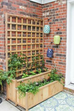 Perfect Tiered Planter And Trellis   Shades Of Blue Interior
