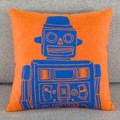 Robo-Throw Pillow (Orange)