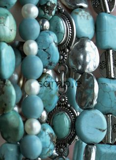 Turquoise and pearls pastel photograph size by MariaZambrunoPhoto, €5.00