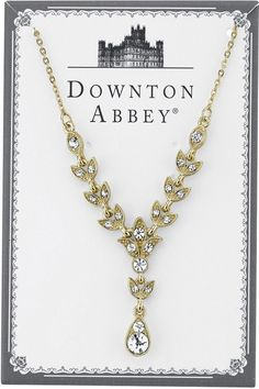 Downton Abbey® Boxed Gold-Tone Crystal Y-Necklace