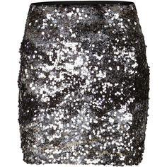 Vila Sequinna Short Skirt - Polyvore