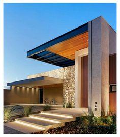 Big Houses Exterior, Modern Exterior House Designs, Modern Villa Design, Dream House Exterior, Modern Architecture House, Exterior Design, Architecture Design, Modern House Facades, Amazing Architecture