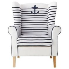 Nautical club chair would make a great nursing chair too