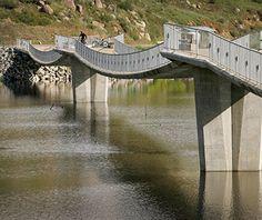 Longest Stressed-Ribbon Bridge: David Kreitzer Lake Hodges Bicycle/Pedestrian Bridge, Escondido, CA