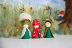 Summer 3. Set / Flower dollWaldorf Inspired natural Table