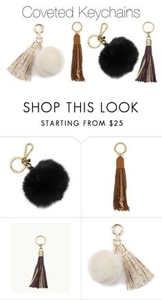 """""""Coveted Keychains"""" by guest114 ❤ liked on Polyvore featuring MICHAEL Michael Kors, Yves Saint Laurent, GiGi New York and Juicy Couture"""