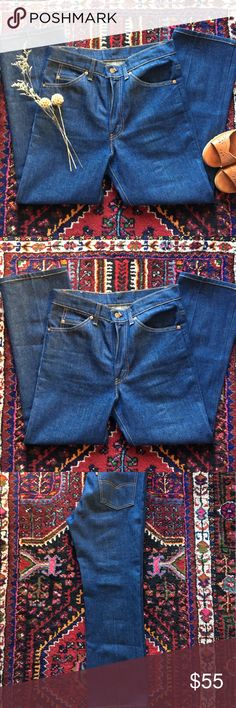 Vintage Levi's Orange 🍊 Tab Vintage Levi's Orange 🍊 Tab / Made in USA 🇺🇸 / Rigid Denim / Beautiful Color / Ready to wear / Definitely Not Reformation / Better than / Reformation Jeans Boot Cut