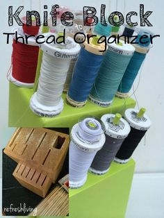 With the goal of staying organized on a budget, I spent $2.00 to create this thread organizer for my craft table.  I know, I know, I can easily buy thread organizers for a few bucks more, but I'm a...