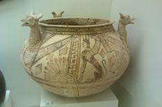 Preclassical Greek ceramic cauldron-Crete