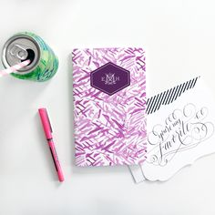 YAY! New #maydesigns monograms are here! Shop this style: http://www.maydesigns.com/shop/books/create/dash-of-fuchsia/