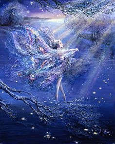 Fairy and fantasy art images, fairy pictures & drawings, flower and butterfly illustrations from Fairies World. Fairies World, Fairy & Fantasy Art Gallery - Josephine Wall/Where Moonbeams Fall© Josephine Wall, Art Visionnaire, Earth Design, Fairy Art, Heaven On Earth, Fantasy Artwork, Faeries, Les Oeuvres, Amazing Art