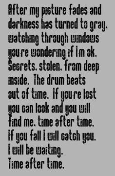 Cindi Lauper - Time After Time - song lyrics, music lyrics, song quotes, music quotes, songs