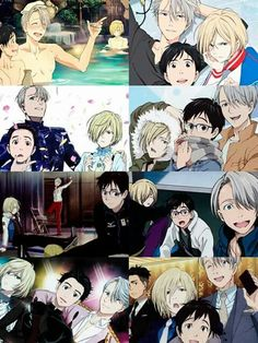 Victor is always some how touching Yuuri