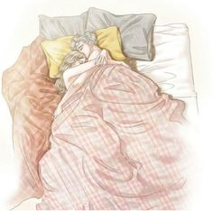 Couple sleeping in bed. Cute Couple Art, Anime Love Couple, Couple Cartoon, Anime Couples Drawings, Couple Drawings, Love Drawings, Drawing Pictures, Romantic Anime Couples, Cute Couples