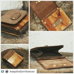 Wood and leather coin purse Card Case, Coins, Coin Purse, Purses, Wallet, Wood, Leather, Fashion, Handbags