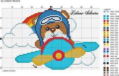 Lidiane Silveira Mini Cross Stitch, Cross Stitch Borders, Cross Stitch Charts, Cross Stitching, Cross Stitch Embroidery, Cross Stitch Patterns, Hand Embroidery, Baby Teddy Bear, Christmas Embroidery Patterns