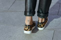 Sandro Paris Leopard Sneakers! http://blog.3chic.com/2014/01/total-leather.html