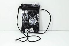 Smartphone passport case in Black & White  Owls by JoyInTheBag on Etsy