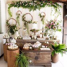 Wedding food diy receptions bridal shower Ideas for 2019 Diy Wedding Food, Wedding Desserts, Wedding Themes, Wedding Table, Rustic Wedding, Wedding Centerpieces, Wedding Decorations, Table Decorations, Boho Baby Shower