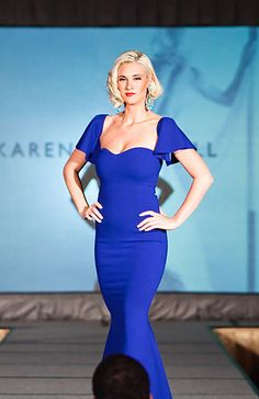 Karen Caldwell Design | Home #Fashion #Runway #BlueDress