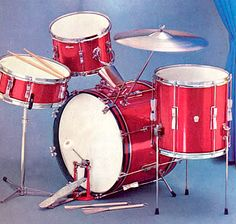 1960 Ludwig Club Date - Red Sparkle