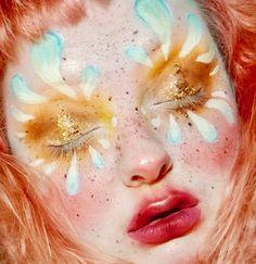 @porcelainette Maquillage Halloween, Halloween Makeup, Makeup Inspo, Makeup Inspiration, Pretty Makeup, Makeup Looks, Make Up Art, How To Make, Foto Fantasy