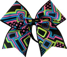 Sparkle Bows Cheer Neon Half Pipe Black Cheer Bow * Find out more about the great product at the image link. (This is an affiliate link) Wholesale Hair Accessories, Organizing Hair Accessories, Hair Accessories For Women, Short Hair Styles, Natural Hair Styles, Cheer Bows, How To Make Hair, Tween, Hair Clips
