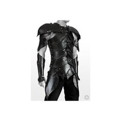 Elf Leather Armor black Handcrafted, genuine leather LARP armor found on Polyvore