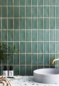 We have your walls and floors covered with the hottest tile trends and tips on installation and upkeep. tiles 5 tile trends that will take over your bathroom in 2020 Kitchen Wall Tiles Design, Bathroom Interior Design, Bathroom Styling, Tile Design, Kitchen Interior, Bath Design, Design Design, Bathroom Trends, Bathroom Renovations
