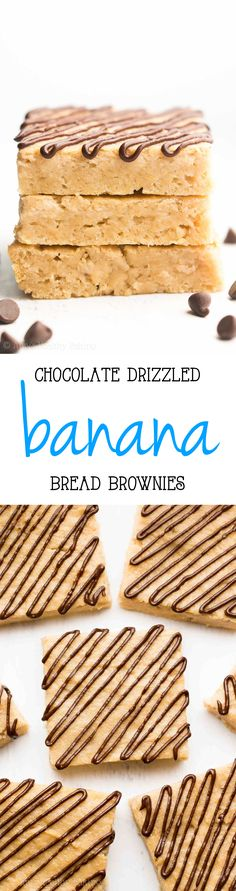 Banana bread flavor + fudgy brownie texture + chocolate drizzle = AMAZING! Only 56 calories & this easy recipe is secretly healthy enough for breakfast!