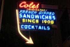 Cole's: Neon Sign by Guzzle & Nosh, via Flickr