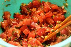 Hawaiian Ahi Poke (Paleo, Gluten Free, Dairy Free). Think I could use canola oil.....? Maybe hemp seeds.