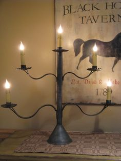 love the tavern sign and the candle holder... love that she made it!!!