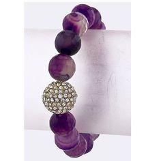 Crystal marble bead bracelet Crystal ball marble bead bracelet • Stretchable • Lead free Jewelry Bracelets