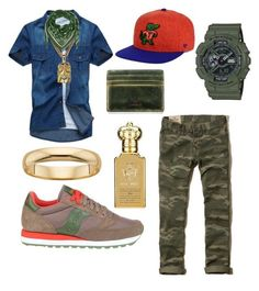 """Mix-it-up"" by michaelmartin714 on Polyvore featuring Saucony, Hollister Co., G-Shock, '47 Brand, McQ by Alexander McQueen, Clive Christian, J.Fold, men's fashion and menswear"