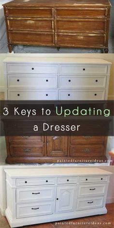 Updating a Dresser- will need this when refurbing the upstairs king set.