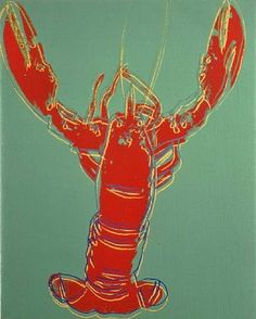 Andy Warhol / Lobster (Red on Green).