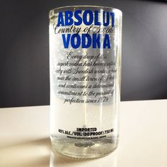 Recycled Absolut Vodka Glass Bottle Gel Candle by Rehabulous, $20.00