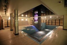 Swimming pool with an aquarium in Foksal Residence